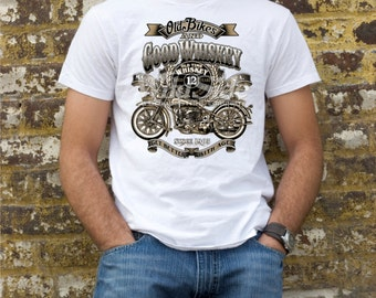 Old Bikes and good whiskey t-shirt