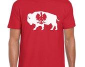 Buffalo Polish Dyngus Day Parade Bison T-Shirt Polish Falcon New York