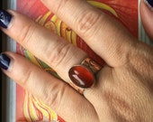 Carnelian and Copper Power Ring