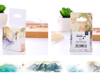 Japan Life Washi Tape—Masking Tape,Decorative Tape, Planner Sticker, Journal, Cat,Floral Washi Tape,Adhesive Tape,15mm*10m