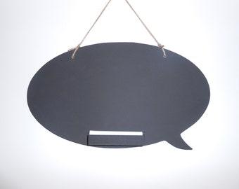 Fun Speech Bubble Shaped Chalkboard, Blackboard, Memo board, Handmade