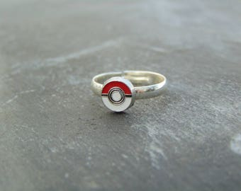 Small Pokemon Pokeball Ring