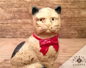 Cast Iron Cat Bank by A C Williams