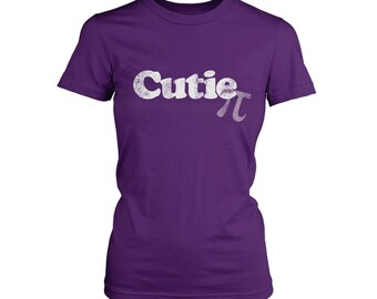 Cutie Pi Funny Cute Math Science Nerd Geek LADIES JUNIOR FIT T-shirt Tee