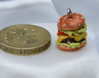 Cheeseburger phone/bracelet charm