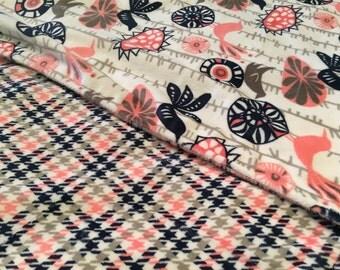 Baby Girl Minky Blanket - Baby Blanket - Newborn Gift - Pink And Navy Blanket - Minky Blanket