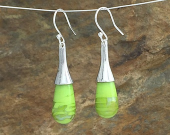 Mercurial Green Drop Earrings