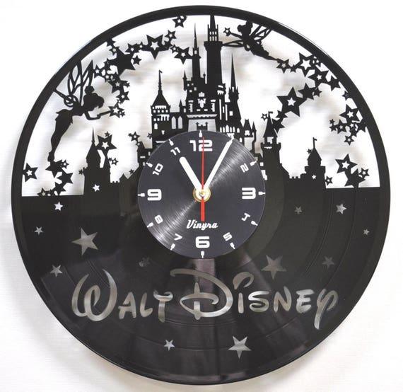 Disney Clock Vinyl Record Wall Clock Disney Castle Clock Vinyl