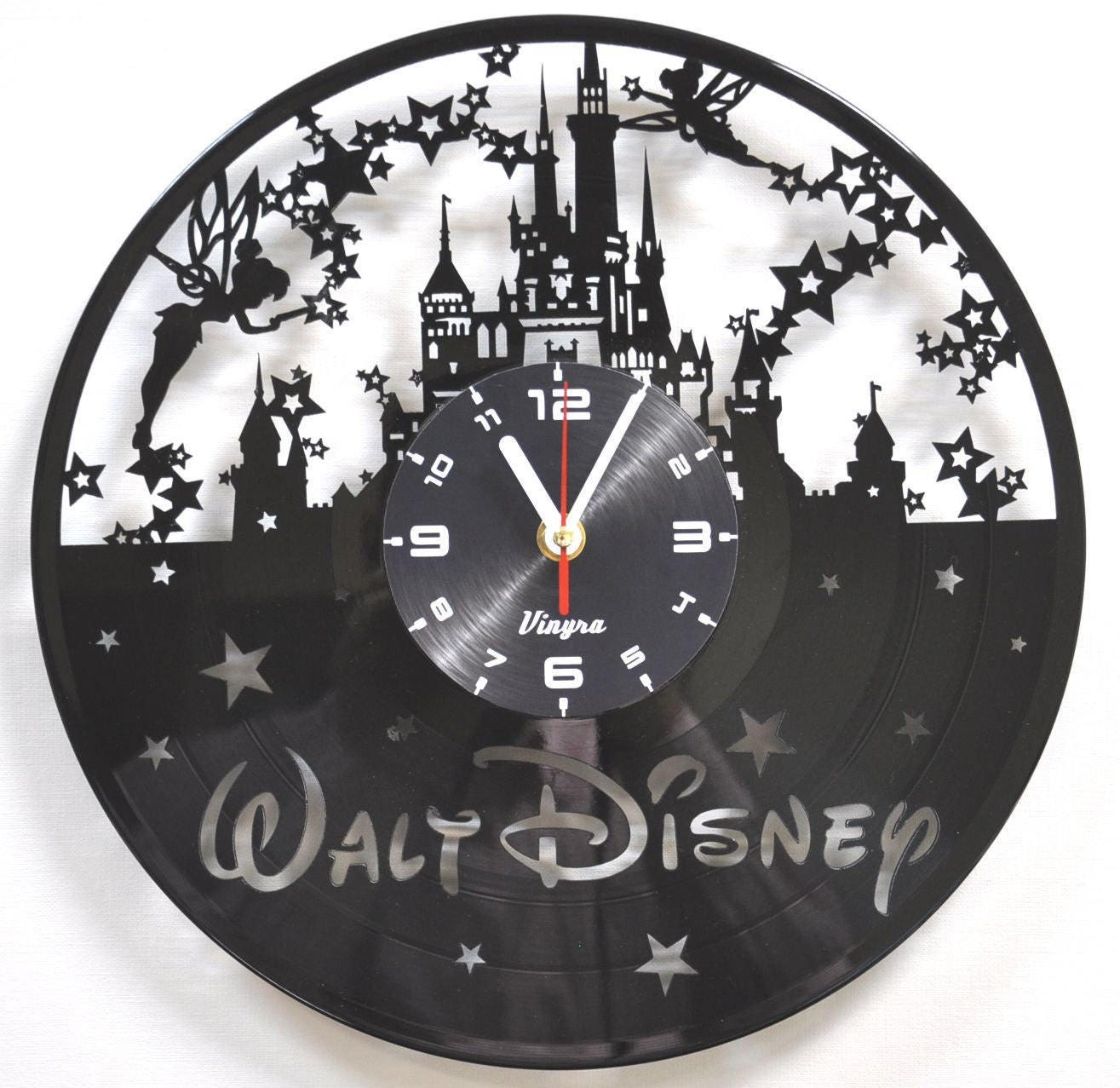 disney uhr vinyl schallplatte wanduhr. Black Bedroom Furniture Sets. Home Design Ideas