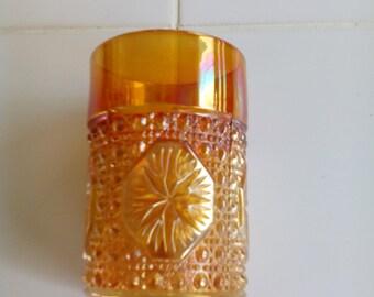 Carnival Glass Tumbler - Star Medallion