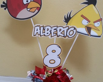 Angry birds centerpiece, angry birds party supplies, angry birds birthday party, angry birds tableware angry birds centerpiece decoration