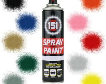 250ml Spray Paint DIY Craft Supply Aerosol Graffiti Art Canvas Drawing Design 151 Brand Black White Blue Green Red Yellow Purple Pink