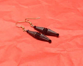 Black & Bronze Earrings