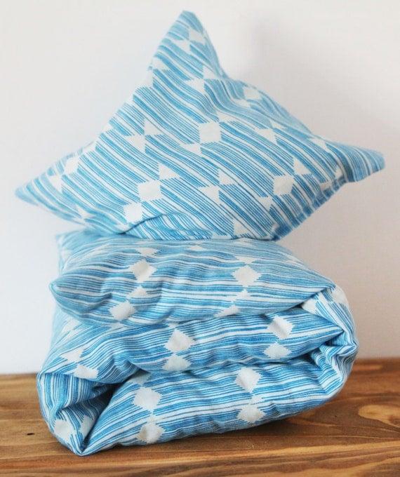 """Cherry Stone Pillow """"Anecdote Blue"""""""