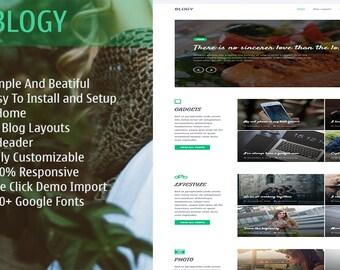 Blogy – A Beautiful WordPress Blog Theme