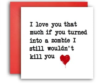 The Walking Dead card/ Greetings card/ Funny