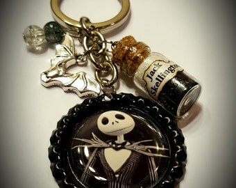 The nightmare before Christmas inspired jack Skellington keychain