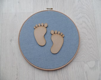 Baby foot print wall hanging