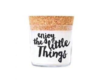 Duftkerze - ' enjoy the little Things ' - Feel Good Candle