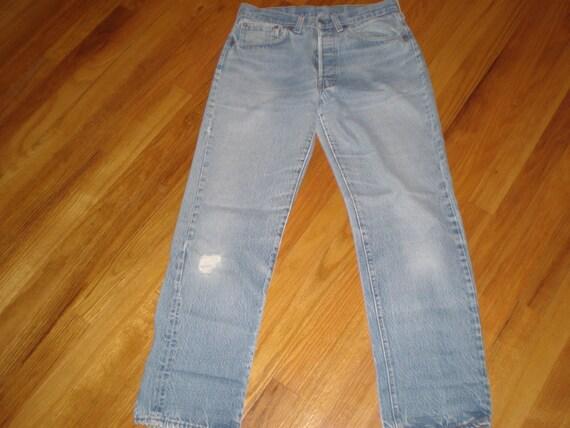 Levi 501 Button Fly Jeans Sz 29/28