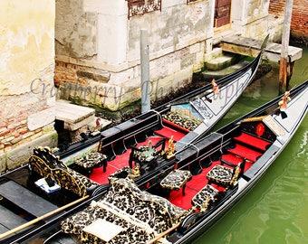 Travel Photography - Gondolas - Venice - Italy - Europe - Romantic