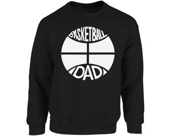Basketball Dad Sweatshirt Tops Crewneck Sports Dad Gift for Him Fathers Day Gift Basketball Player