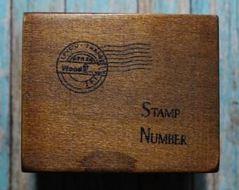 Brand New Retro wood box stamp set