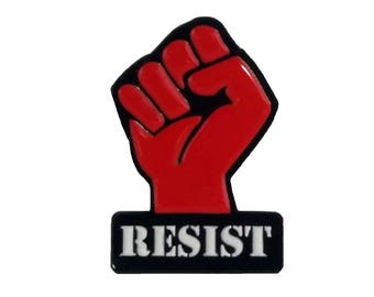 Resist Fist- Equal Rights for All Enamel Pin