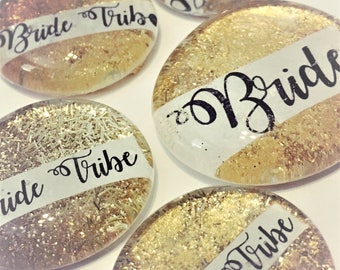 Bride Tribe Sparkly Pins, Bachelorette Party, Hen Night Badges, Bride Button, Gold, Last Fling, Bright White, Classy Bridal Shower, Magnet