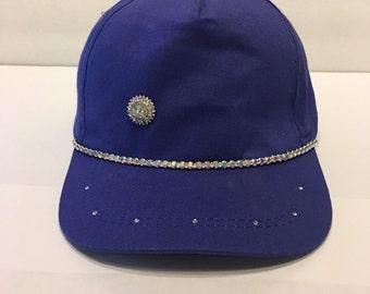 Bling Sparkle Embellished Blue Hat