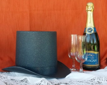 Ice Bucket, Top Hat, Chamagne Bin, Black Hat Cooler, Champagne Coolers, Vintage, French Champagne