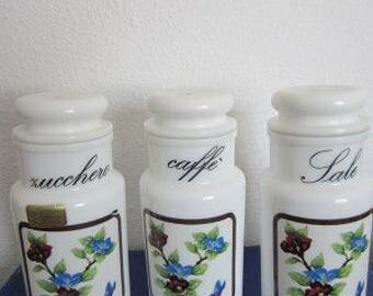 milkglass storage jar canister vintage
