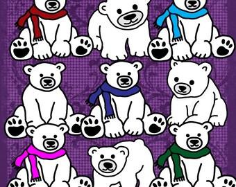 Polar Bears Clip Art 13 Images