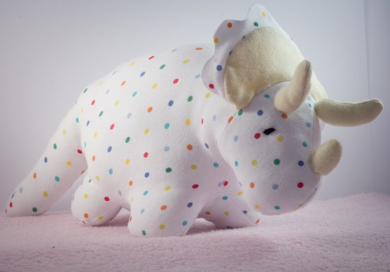 Riley the raucous rhinosaur teddy made out of your babygro or clothing