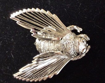 Monet silver bee pin vintage
