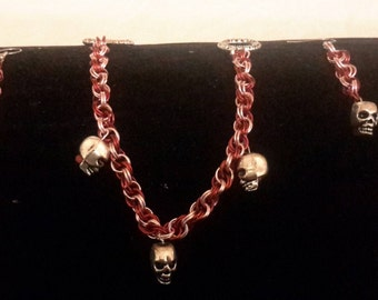 Skull Bracelet and Earrings