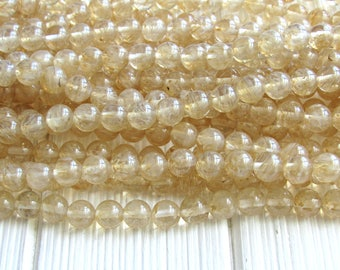 Yellow Quartz, 8mm quartz, full strand, yellow quartz beads, lemon beads, quartz 8mm beads, faceted quartz, quartz gemstone
