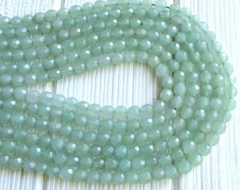 6mm Aventurine beads, 6mm gemstone beads, full strand, Aquality, Green aventurine stones, natural aventurine, round beads, jewelry supplies