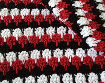 Hand crochet afghan