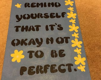 Inspirational quote on canvas 5