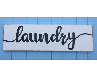 Laundry Sign - Laundry Room Decor - Laundry Room Sign - Hand Painted Signs - Laundry Room Art - Rustic Wood Sign - Valentine's Day Gift