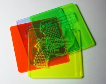 Water Pistol Coaster - Set of 4
