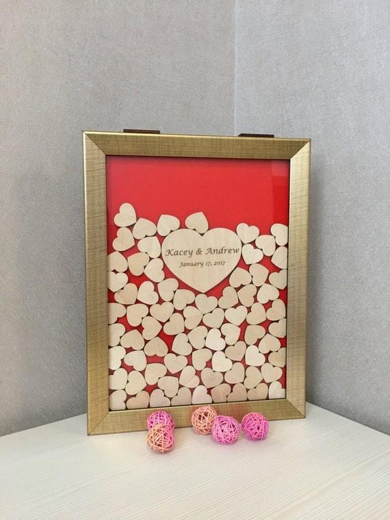 Wedding guest book,guest book,alternative drop box,shadow frame,drop top box,guest book hearts,memory heart box,drop top guest book,drop box