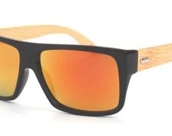 Custom engraved wooden sunglasses
