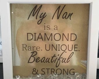 Diamond Nan photo box frame