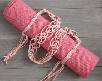 Yoga Mat Strap, Yoga Mat Holder, Yoga Mat Sling, Yoga Mat Bag, Boho Yoga Mat Carrier, Macrame Yoga Strap, Yoga Gear, Yoga Clothing