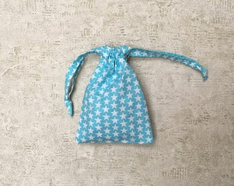 smallbags tissu motif étoiles blanches - 2 couleurs