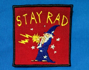 Stay Rad Wizard Patch.