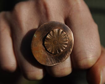 Poppy-copper ring. Copper Ring