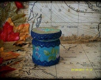 Hand Decorated Secret Stash Jar Cannabis/Marijuana/Weed/Herb/Pills